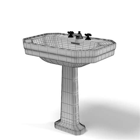 duravit pedestal sink 1930 3d model duravit 1930 modern