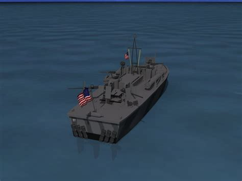 Pt Boat Elco by Elco Pt Boat Pt 209 3d Model Rigged Max Obj 3ds Lwo Lw Lws