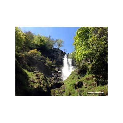 Pistyll Rhaeadr - Waterfall upclose Powys
