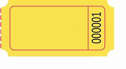 Blank Clipart Ticket Tickets Yellow Roll Specialty