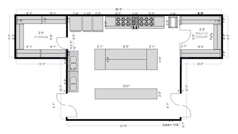 kitchen floor plans kitchen planning software easily plan kitchen designs
