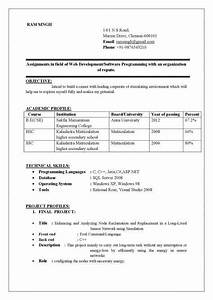 best resume format doc resume computer science engineering With sample resume for fresher mechanical engineering student