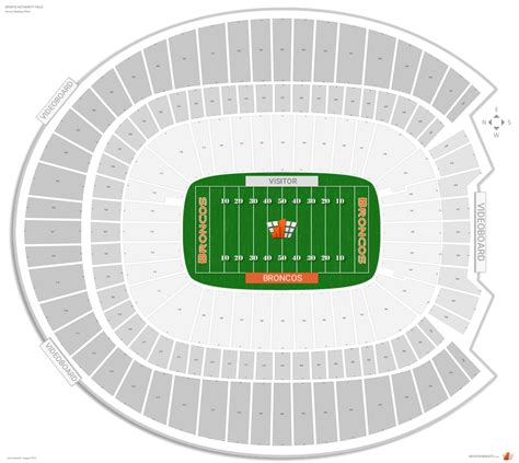 denver broncos seating guide broncos stadium rateyourseatscom