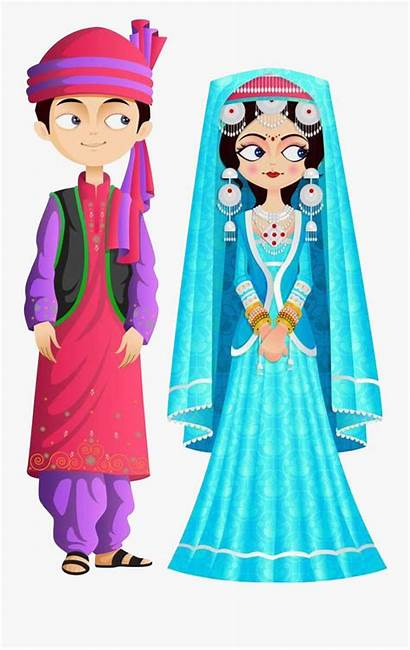 Traditional Clipart Kashmir Jammu India Costume Clothes