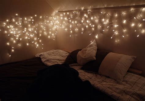 White Christmas Lights In Bedroom  Lamps Ideas