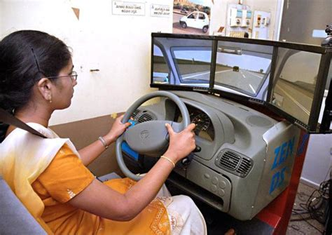 driving license pass  computer simulated