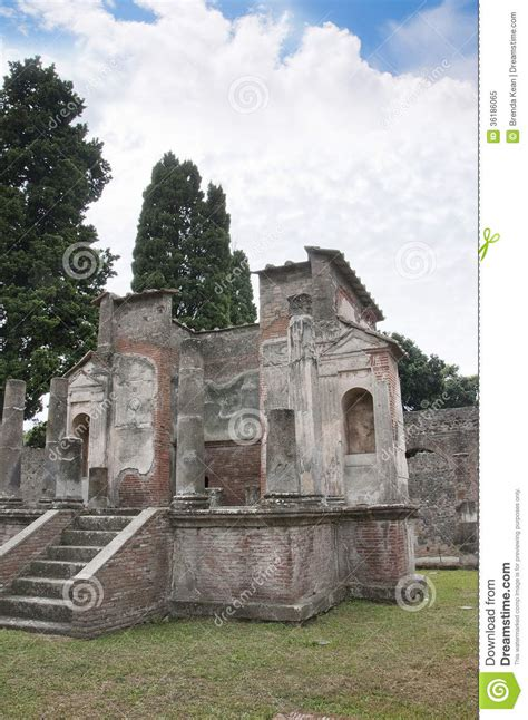 The Temple Of Isis In Pompeii Stock Image  Image 36186065