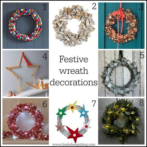 festive christmas wreath decorations   home fresh