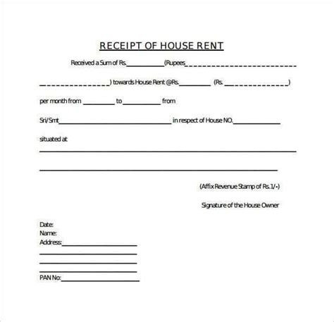 rent receipt template  receipt template templates