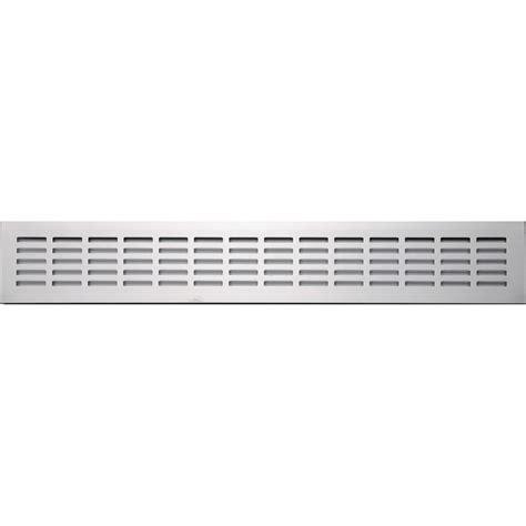 grille aeration cuisine grille d 39 aération aluminium anodisé l 50 x l 8 cm leroy
