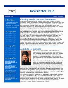 email newsletter template download free documents for With free newsletter templates downloads for word