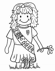 Girl Scout Promise Coloring Pages Coloring Home