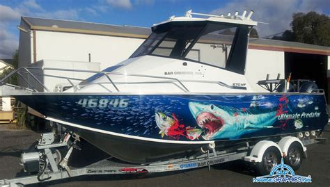 Boat Decals Gold Coast by Pin Marine Wraps Boat And Decals Tint World On