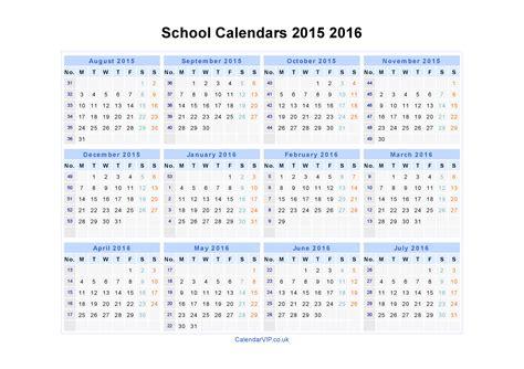 school calendars 2015 2016 calendar from august 2015 to july 2016