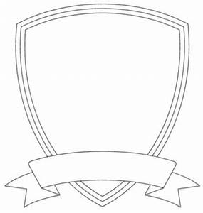 badge outline shield template image vector clip art With school shield template
