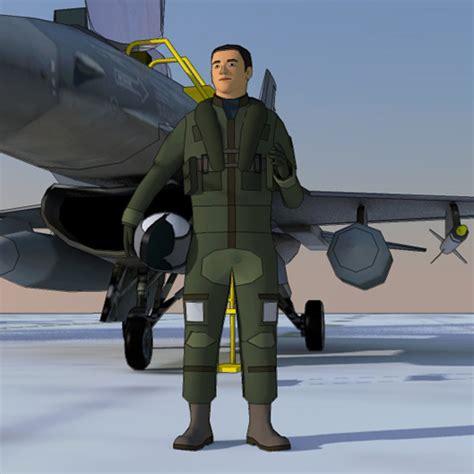 Jet Fighter Pilots 20 3d Model