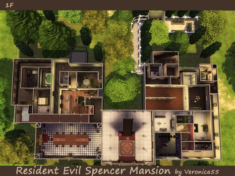 small mansion floor plans veronica55 39 s resident evil spencer mansion