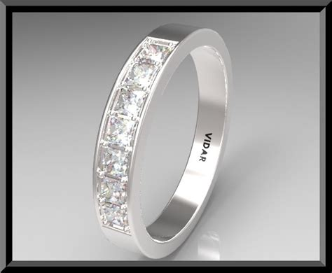 Women Princess Cut Diamond Wedding Band