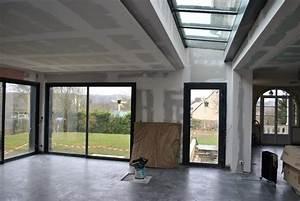 Extension Maison Préfabriquée : interieur maison ossature bois contemporaine ~ Melissatoandfro.com Idées de Décoration