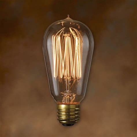 edison light bulb bulbrite nos40 1910 6pk 40w nostalgic edison squirrel cage