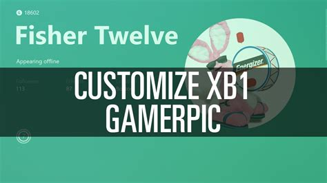 Customize Your Xb1 Gamerpic Youtube