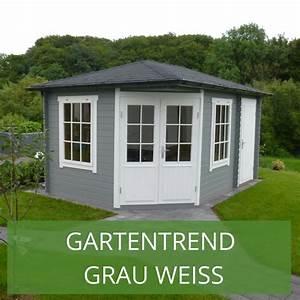 Farbe Für Gartenhaus : gartenhaus grau wei moderner gartentrend mit stil gartentrend grau wei pinterest ~ Watch28wear.com Haus und Dekorationen