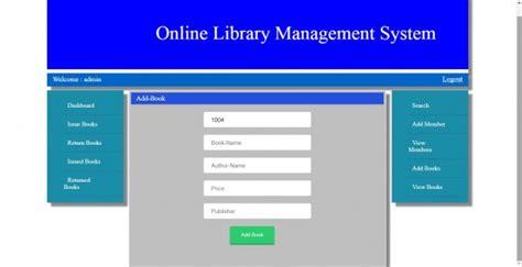library managment system mysql