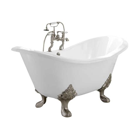 naiture cast iron slipper tub in 2 length and 5