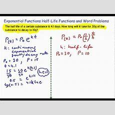 Halflife Word Problemwmv Youtube