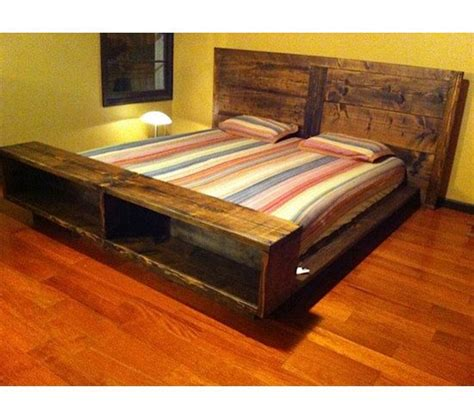 king size captains bed frame woodworking projects plans