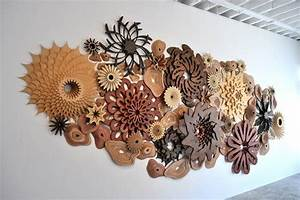 Artist's intricate laser cut sculptures mimic coral reef