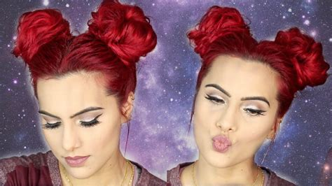 space bunsdouble buns hair tutorial youtube