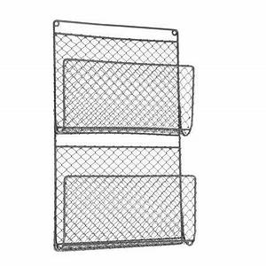 wall mounted chicken wire letter magazine store holder With wire letter holder wall