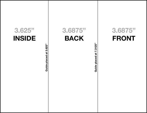 fold brochure template indesign trifold brochure