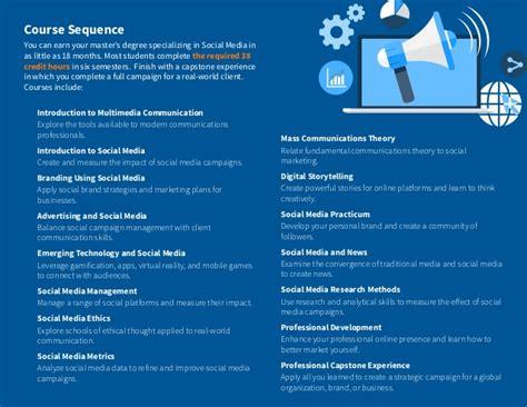 social media masters degree master s degree in social media information packet