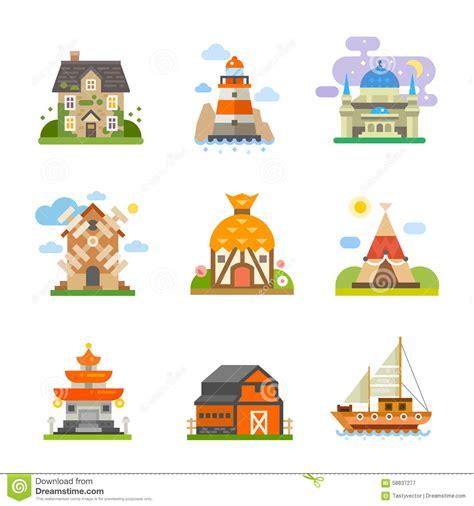 maisons du monde illustration de vecteur image 58837277