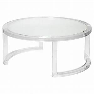 ava modern round clear glass acrylic coffee table kathy With clear lucite acrylic coffee table