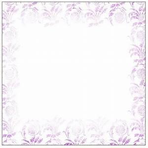 Purple Flower Border - Cliparts.co