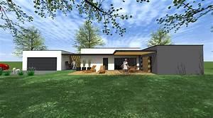 Maison Architecte Plain Pied : maison plain pied 1 2 vue architecte lise roturier ~ Melissatoandfro.com Idées de Décoration
