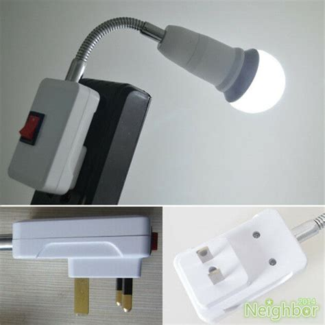 new us uk plug gooseneck wall light e27 l holder
