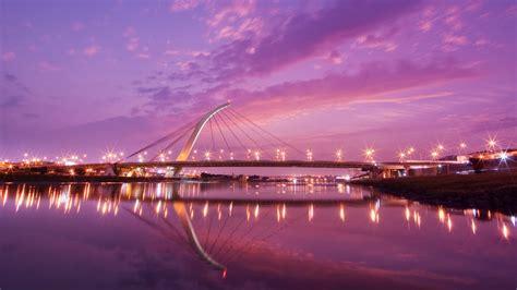 Desktop Wallpapers Hd by Hd Wallpaper Dazhi Violet Evening Taipei Bridge