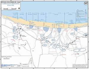 Map of WWII: OMAHA Beachhead D-Day June 6, 1944