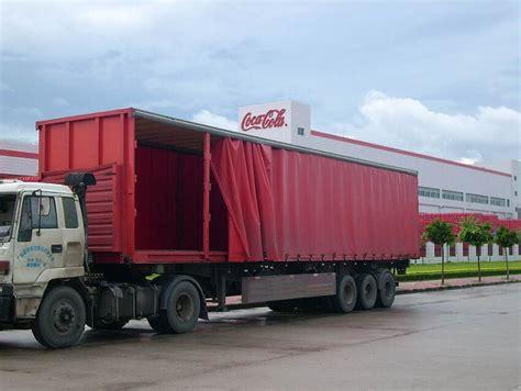 trucking companies curtain side trailers curtain
