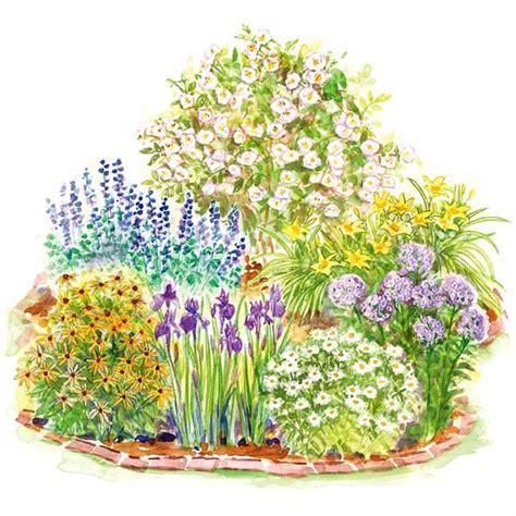 easy care flower beds easy care romance garden plan