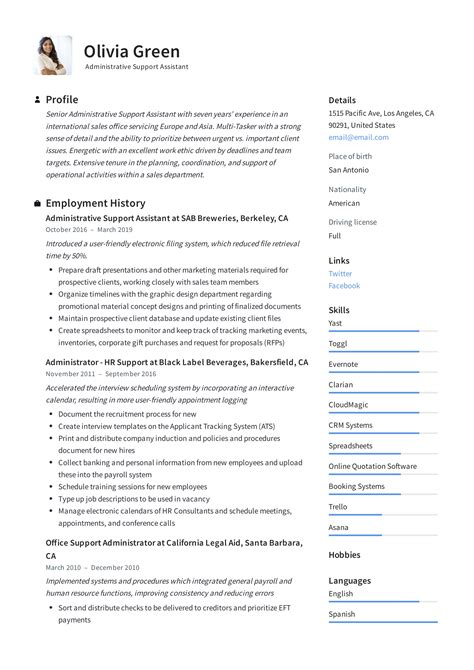 administrative support assistant resume guide