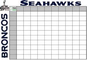 Super Bowl Pool Template