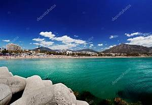 Stranden I Puerto Banus Marbella Spanien