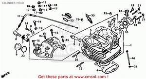Honda Xl185s 1982 Usa Cylinder Head