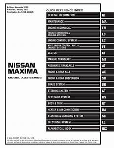 2000 Nissan Maxima Service Repair Manual