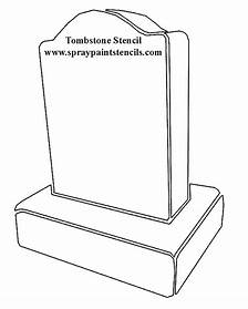 tombstone template printable
